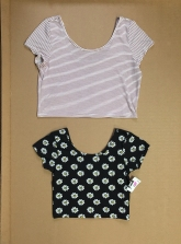 Striped crop top from American Eagle - $2 Daisy crop top from Fifth Sun - $2